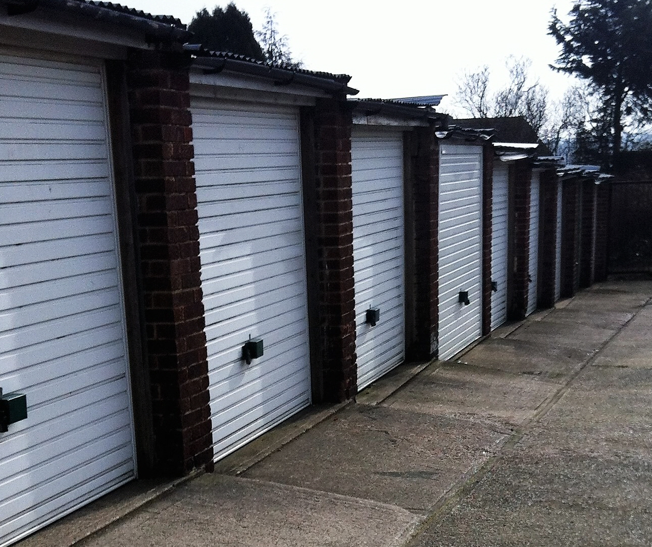 gated secure lock up garage storage units rent rental garages monthly rental quarterly  cost to let landlord hire cheap car vehicle bike parking bay space off road parking medway gated entrance